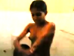 Thin Indian Girl Recorded Showering