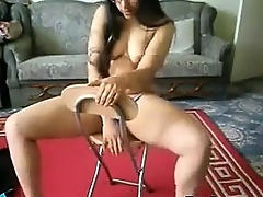 Indian Lady Doing A Striptease