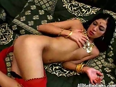 Enchanting indian chick Kharti stripping her pants and massaging her body with passion