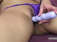Exotic MILF Naomi Shah uses a toy on her vag