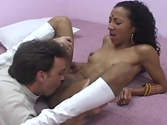 Curby indian  sits her hungry pussy on huge dick