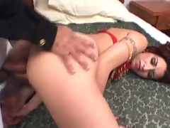 Indian stunner in doggystyle anal scene