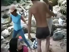 Collage Angels N Lads Outdoor Gangbang
