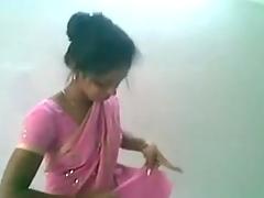 Cute Indian Desi Cutie in Pinkish Saree Engulfing and Fucking