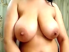 Indian girl with immense love bubbles plays with sex tool