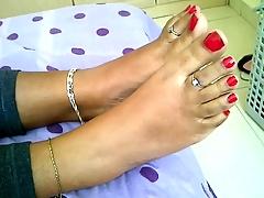 teen indian feet