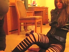 Mistress Nia - indian femdom sneakers trampling foot worship