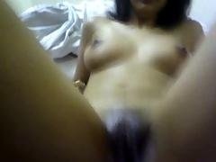 Indian Muslim girl having an orgasm.
