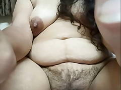 Indian Aunty Shows Her Hairy Pussy and Pretty Face