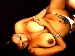 Indian slut with nice big knockers eats shaft and gets fucked from behind