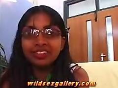 Bashful Indian Girl Gives Very Slow Blowjob